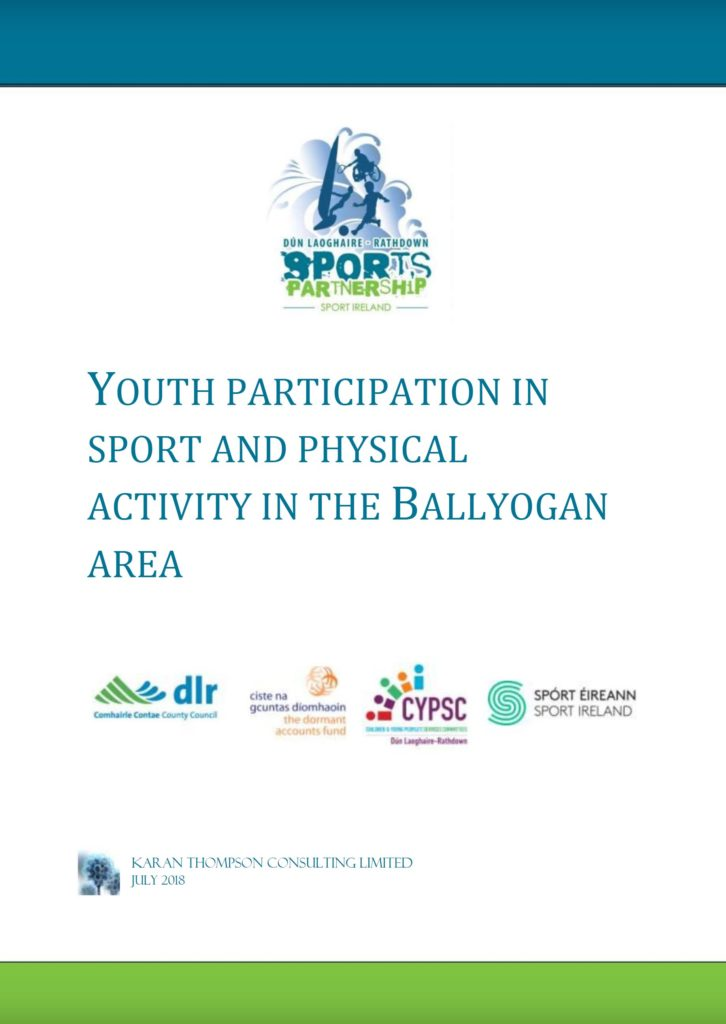 Youth participation in sport and physical activity in the Ballyogan Area